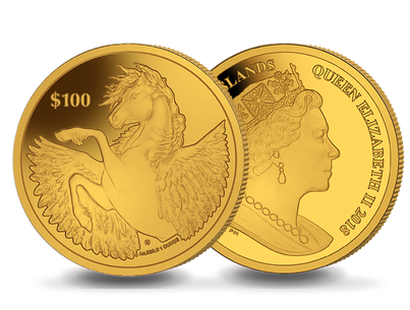 Pegasus 2018 1oz 24-Carat Gold $100 Coin