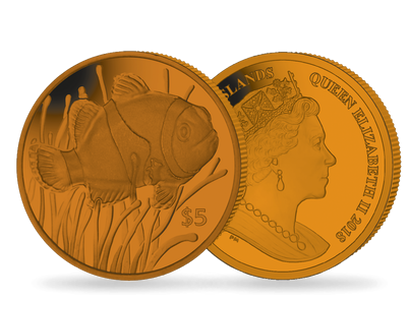 Clownfish 2018 $5 Orange Titanium Coin