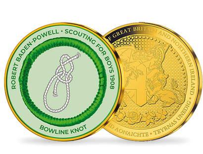 Adventure & The Great Outdoors - Scout's Bowline Knot Gold Plated Commemorative