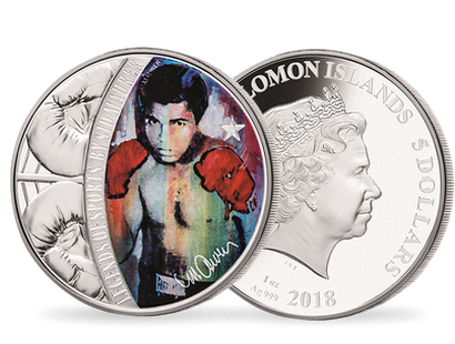 Sid Maurer's Celebrity Icons© : The Legends of Sports - Muhammad Ali 1oz Silver Proof Coin