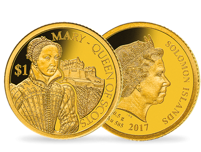 Mary Stuart 2017 $1 Gold Proof Coin