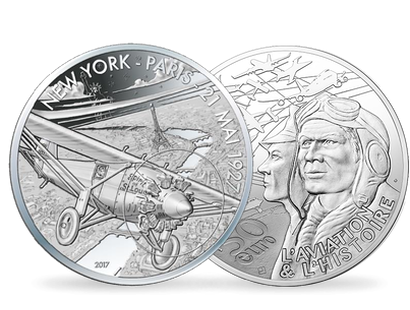 Aviation & History - Spirit of St Louis €50 5oz Silver Proof Coin