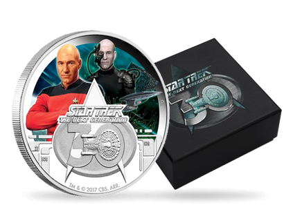 Star Trek: The Next Generation 30th Anniversary 2017 1 oz Silver Proof Coin