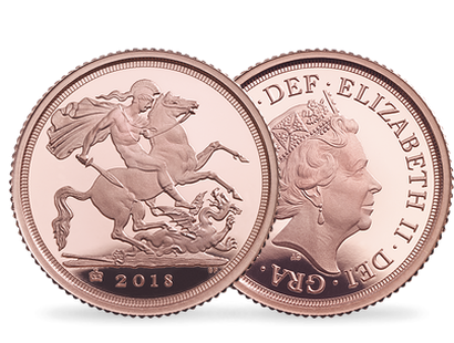 The 2018 Sovereign, ¼ Sovereign, ½ Sovereign & 5 Sovereign Set
