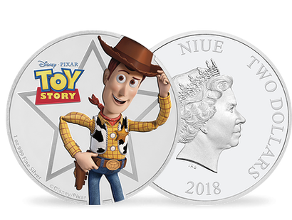 Toy Story - Woody 2018 1oz Silver Coin