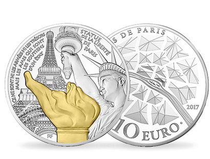 Treasures of Paris - Statue of Liberty €10 Silver Proof & Gold Deposit