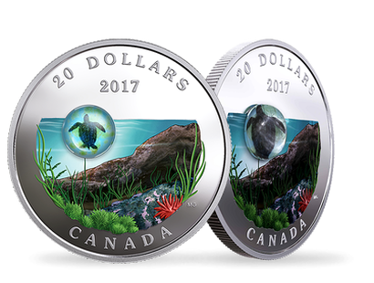 Under the Sea: Sea Turtle 2017 $20 Fine Silver Coin
