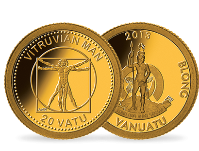 Leonardo Da Vinci: The Vitruvian Man Smallest Gold Coin