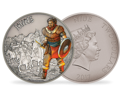 Warriors of History – Huns 1 oz Silver Coin