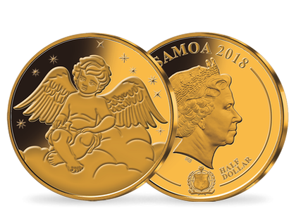 'Your Guardian Angel' Gold Plated Brilliant Uncirculated Coin