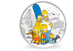 Tuvalu 2019 Silber-Gedenkmünze 'The Simpsons™ - Familie'