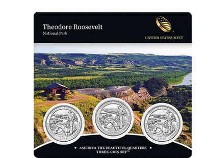 USA 2016 'Theodor Roosevelt National Park 2016 Quarter Set'