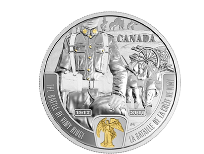 First World War: Battlefront Series - The Battle of Vimy Ridge 2017 $20 Fine Silver Coin