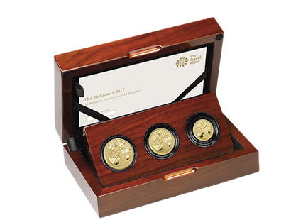 Britannia 2017 Premium 3-Coin Gold Proof Set