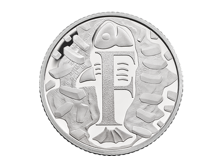 The Great British Coin Hunt - Quintessentially British 'F'  2018 Silver Proof 10p Coin