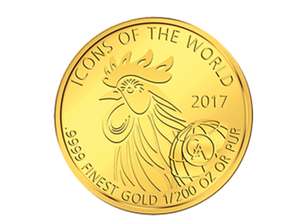 Icons of the World - Rooster 2017 Gold Coin