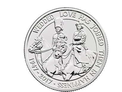 The Platinum Wedding Anniversary 2017 £20 Fine Silver Coin