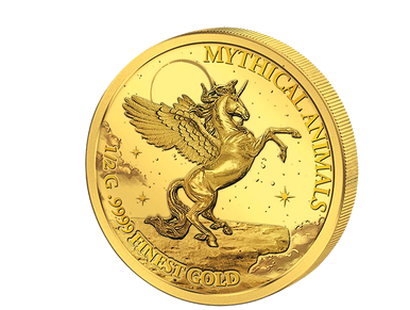SMART Mythical Animals 24 Karat Gold 4 Coin Set