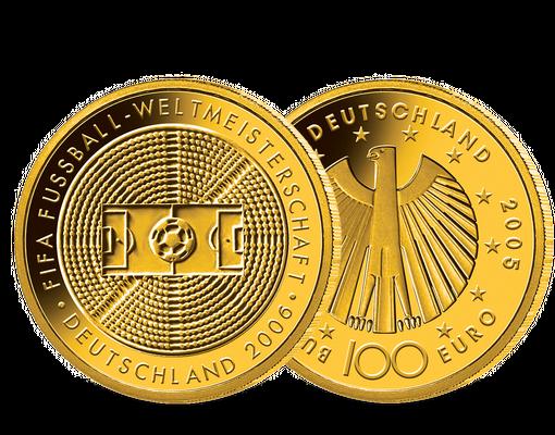 100 Euro Goldmunze 2005 Fifa Wm 2006