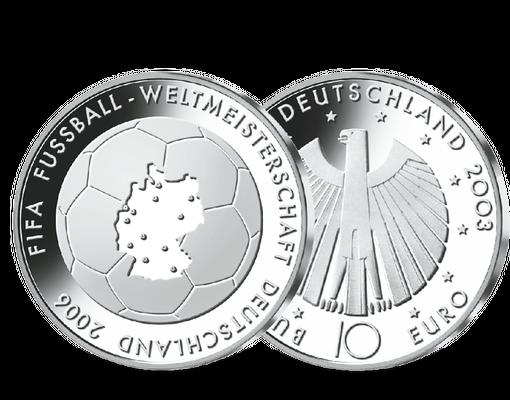 Die 10 Euro Gedenkmunze Zur Fussball Wm 2006