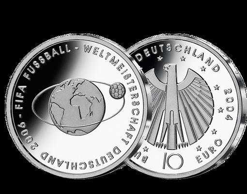 Die 10 Euro Gedenkmunze Fussball Wm 2006