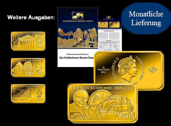 Die Goldnoten Zu Den Deutschen Banknoten Mdm Deutsche Münze