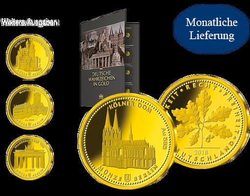 Die Deutschen Wahrzeichen In Gold Ihre Startlieferung Kölner Dom