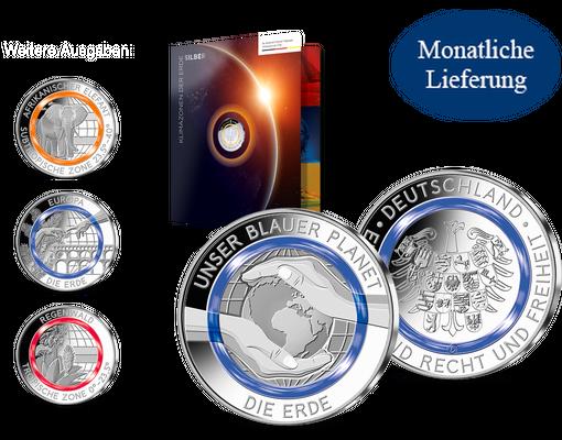 Die Klimazonen Der Erde Auf Silber Gedenkprägungen Mit Original