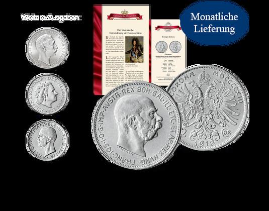 12 Historische Silbermünzen Berühmter Kaiser Und Könige Mdm
