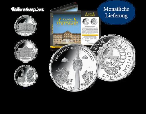 Silberprägungen 800 Jahre Stuttgart Mdm Deutsche Münze