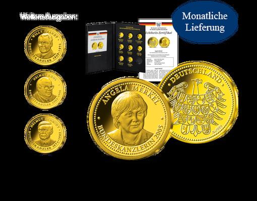 Kanzler Und Präsidenten In Reinem Gold Startlieferung Bundeskanzler
