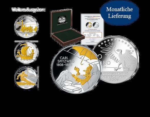 10 Euro Münze 200 Geburtstag Carl Spitzweg Mdm Deutsche Münze