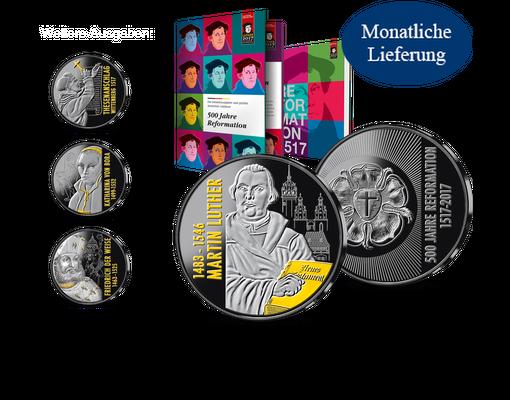 Silberausgabe Martin Luther Mdm Deutsche Münze