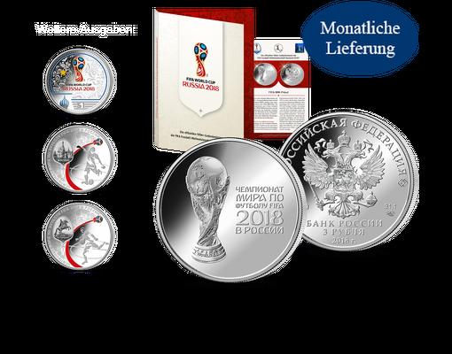 Silbermünze Russland Fifa Fußball Wm 2018 Mdm Deutsche Münze