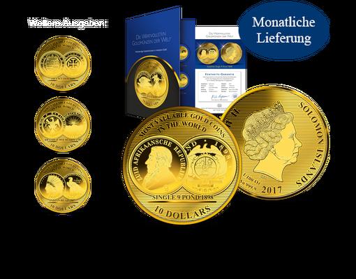 Kollektion Die Wertvollsten Goldmünzen Der Welt Als Größte 1100