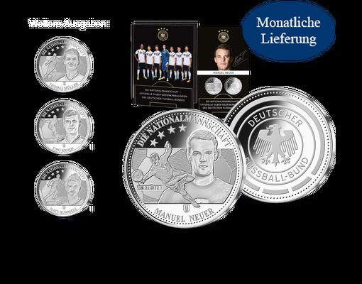 Die Offiziellen Silberprägungen Der Deutschen Nationalmannschaft