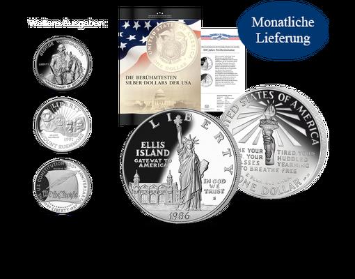 Die Berühmtesten Silber Dollars Der Usa Ihre Startlieferung Freiheitsstatue