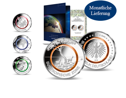 Die Offiziellen Deutschen 5 Euro Münzen 20162021 Komplett Mdm