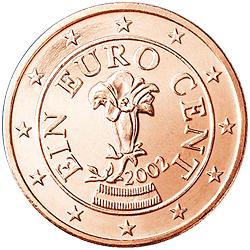 1 Euro-cent Österreich Motivseite