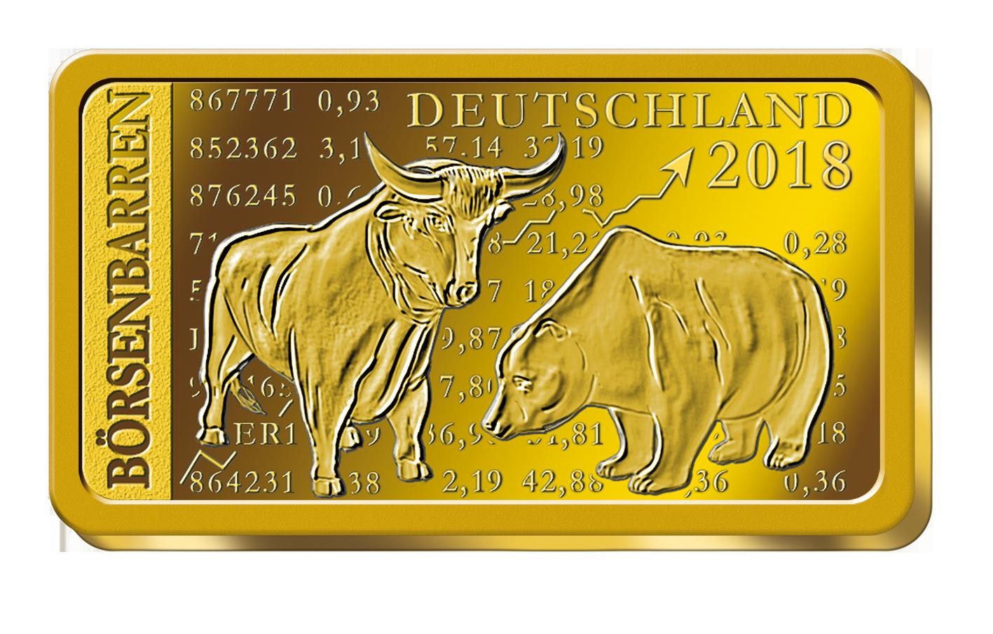 Goldbarren Börsenbarren Deutschland 2018 Spiegelglanz Münzen