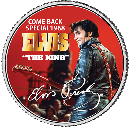 "0,50 USD Münze USA Come Back Special 1968 ELVIS ""The King"" ST"