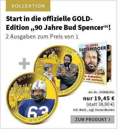 2 Ausgaben zum Preis von 1 – Start in die offizielle GOLD-Edition ''90 Jahre Bud Spencer''!