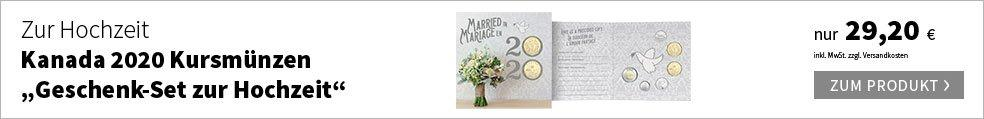 Kanada 2020 Kursmünzen ''Geschenk-Set zur Hochzeit''