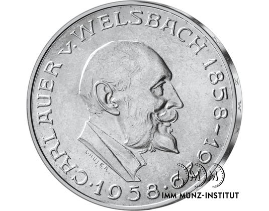 25 Schilling Gedenkmünze Carl Auer Von Welsbach Imm Münz Institut