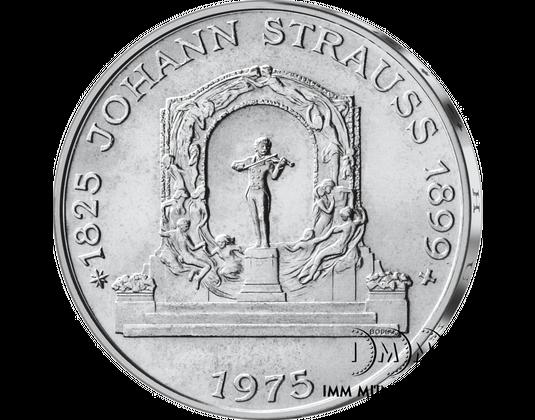 100 Schilling Gedenkmünze 150 Geburtstag Von Johann Strauß Sohn