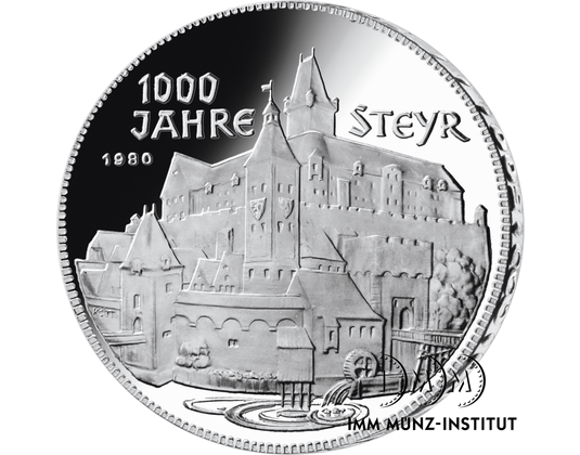 500 Schilling Gedenkmünze 1000 Jahre Steyr Imm Münz Institut