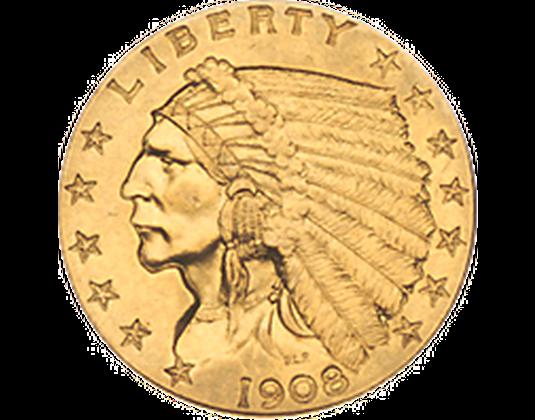 Historische Goldmünze Indianerkopf Imm Münz Institut