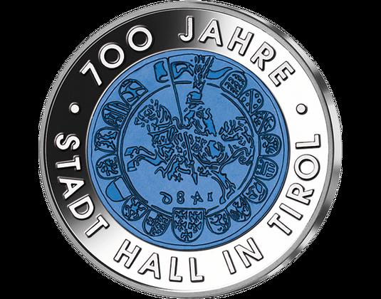 25 Euro Silber Niob Münze 2003 Stadt Hall Ausreise Info