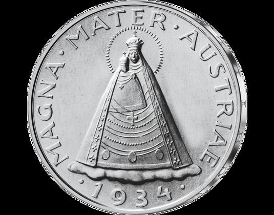 5 Schilling Magna Mater Austriae Von 1934 Imm Münz Institut