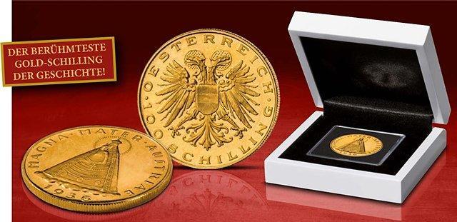 100 Schilling Magna Mater Austriae 1935 1938 Aus Edlem Gold Imm